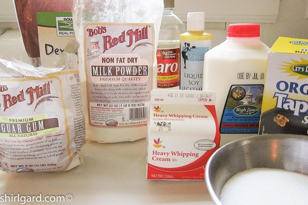 Shirl's Gelato Mix Ingredients