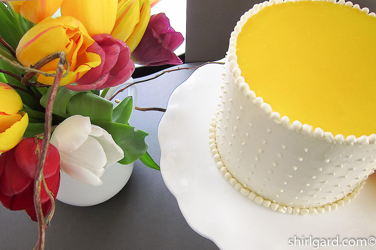 Lemon Chiffon Mousse Cake
