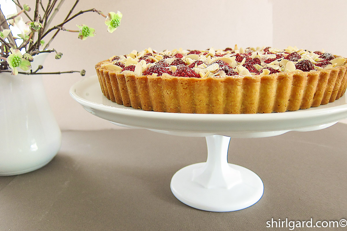 Raspberrry Almond Frangipane Tart