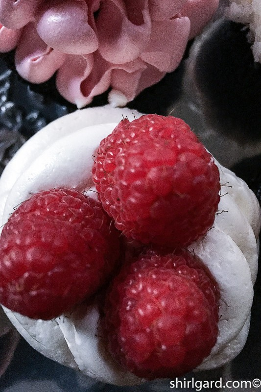 Three Raspberries: Devil's Food Cupcake
